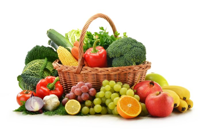 Fruit and Vegetable Basket panier fruits legumes